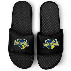 Volleyball Black Slide Sandals - Your Logo