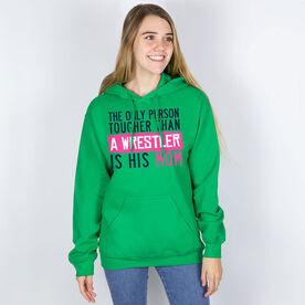 Wrestling Hooded Sweatshirt - Tougher Than A Wrestler Mom
