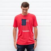 Hockey Short Sleeve T-Shirt - American Flag
