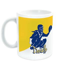 Softball Coffee Mug Personalized Catcher