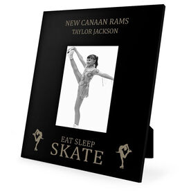 Figure Skating Engraved Picture Frame - Eat Sleep Skate