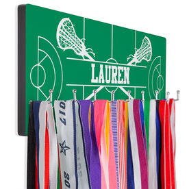 Girls Lacrosse Hooked on Medals Hanger - Personalized Field