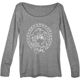 Women's Runner Scoop Neck Long Sleeve Tee Tri Crest