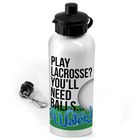 Lacrosse 20 oz. Stainless Steel Water Bottle Play Lacrosse You'll Need Balls And Water