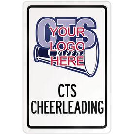 "Cheerleading 18"" X 12"" Aluminum Room Sign Cheerleading Custom Logo With Team Name"