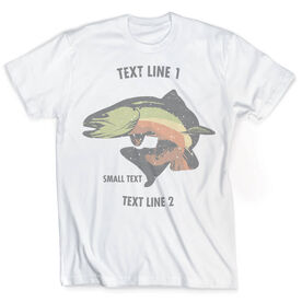 Vintage Fly Fishing T-Shirt - Personalized Brook Trout