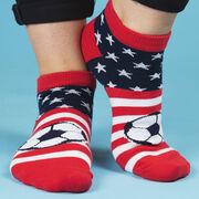Soccer Ankle Socks - USA Patriotic Soccer