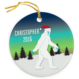 Volleyball Porcelain Ornament Abominable Snowman