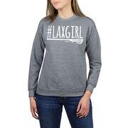 Girls Lacrosse Crew Neck Sweatshirt - #LAXGIRL