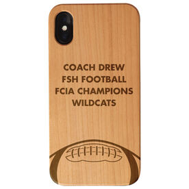 Football Engraved Wood IPhone® Case - Coach