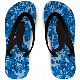 Baseball Flip Flops Digital Camo