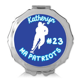 Personalized Hockey Girl Color Compact Mirror