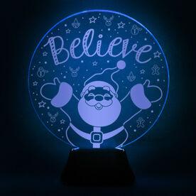 Acrylic LED Lamp - Believe In Santa