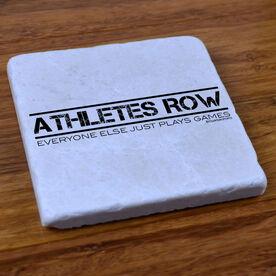 Athletes Row - Stone Coaster