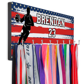 Basketball Hooked on Medals Hanger - USA Baller