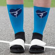 Gymnastics Printed Mid-Calf Socks - Heart