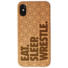 Wrestling Engraved Wood IPhone® Case - Eat. Sleep. Wrestle.