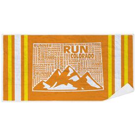 Running Premium Beach Towel - Colorado State Runner