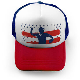 Baseball Trucker Hat Stars & Stripes Player
