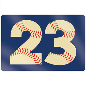 "Baseball 18"" X 12"" Aluminum Room Sign - Number Stitches"