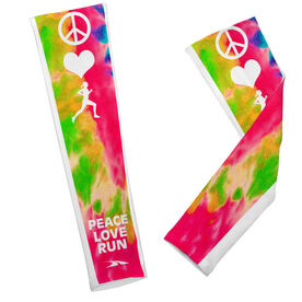 Printed Arm Sleeves Peace Love Run