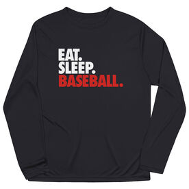 Baseball Long Sleeve Performance Tee - Eat. Sleep. Baseball.