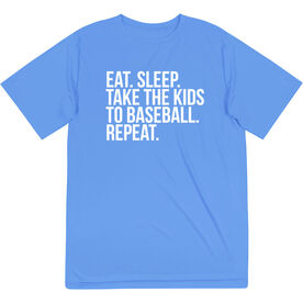 Baseball Short Sleeve Performance Tee - Eat Sleep Take The Kids To Baseball
