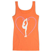 Figure Skating Women's Athletic Tank Top - Heart Skater