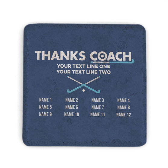 Field Hockey Stone Coaster - Thanks Coach Roster