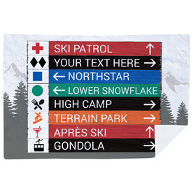 Skiing & Snowboarding Premium Blanket - Custom Sign