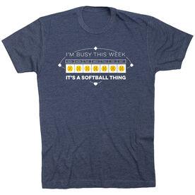Softball T-Shirt Short Sleeve - 24-7 Softball