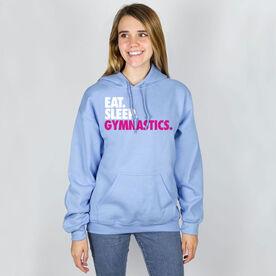 Gymnastics Hooded Sweatshirt - Eat. Sleep. Gymnastics.