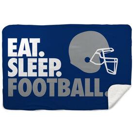 Football Sherpa Fleece Blanket - Eat. Sleep. Football. Horizontal