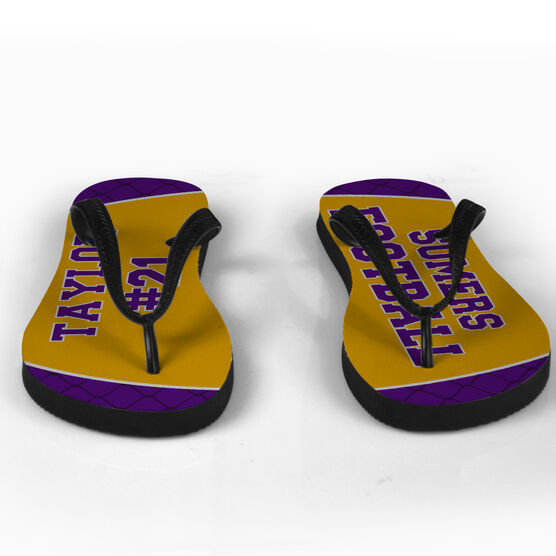 Football Flip Flops Personalized Team
