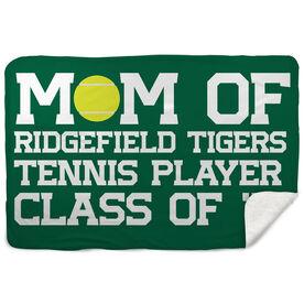 Tennis Sherpa Fleece Blanket - Personalized Tennis Mom