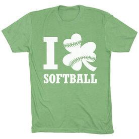 Softball Short Sleeve T-Shirt - I Shamrock Softball