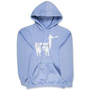 Girls Lacrosse Hooded Sweatshirt - Llama Lax