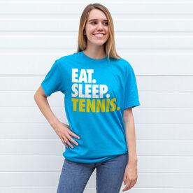 Tennis T-Shirt Short Sleeve Eat. Sleep. Tennis.
