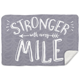 Running Sherpa Fleece Blanket Stronger With Every Mile