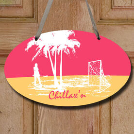 Chillax'n Girl Decorative Oval Sign