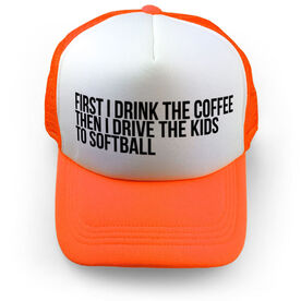 Softball Trucker Hat - Then I Drive The Kids To Softball