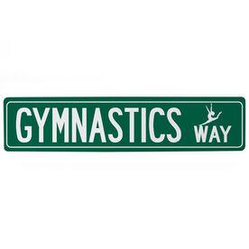 """Gymnastics Aluminum Room Sign - Gymnastics Way (4""""x18"""")"""