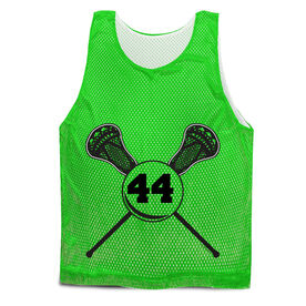 Guys Lacrosse Pinnie - Personalized Lacrosse Sticks Number