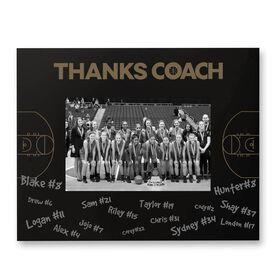 Basketball Engraved Frame - Thanks Coach