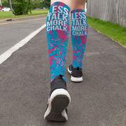 Gymnastics Printed Knee-High Socks - Less Talk More Chalk