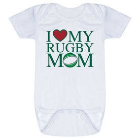 Rugby Baby One-Piece - I Love My Rugby Mom