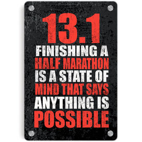 Running Metal Wall Art Panel - 13.1 Anything Is Possible
