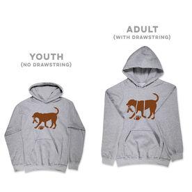 Football Hooded Sweatshirt - Football Dog