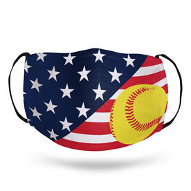Softball Face Mask - USA Flag