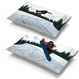 Snowboarding Pillowcase Set - Halfpipe Snowboard